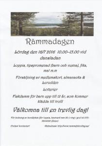 Välkomna till årets Rämmadag lördag 16/7 vid Dansladan från klockan 10