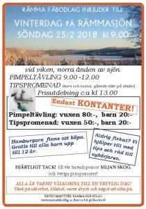 Vinterdag på Rämmasjön 2017